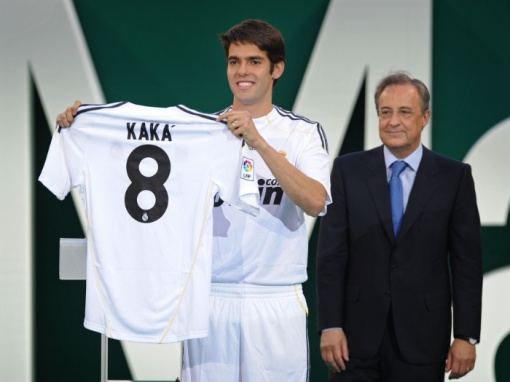Como um dos jogadores mais caros do mundo, em 2009, Kaká chegou ao Real Madrid (Foto: Gettyimages)