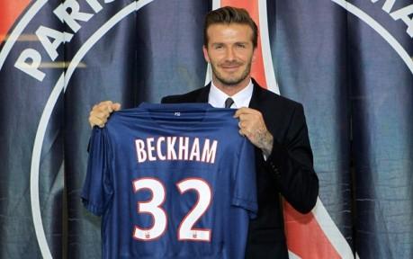 Assim como no Milan, Beckham usará a camisa 32 (Foto: Agência Reuters)