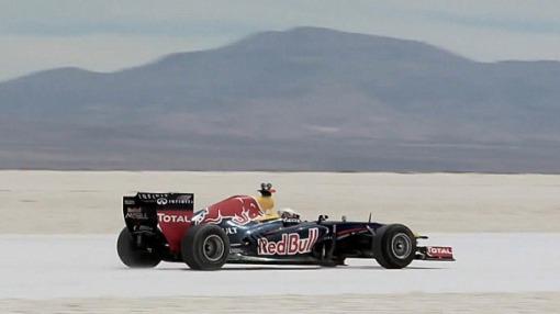Red  Bull colocou à prova o RB7 no deserto de sal de Salinas Grandes, na Argentina (Foto: Divulgação)