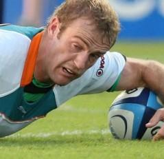 Suado, mas merecido: Sarel Pretorius foi um dos destaques da vitória dos Cheetahs contra os Highlanders (Foto: Sky Sports)