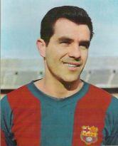 Evaristo de Macedo jogou pelo Barcelona entre 1957 e 1962, sendo título do time catalão. Ele jogou pelo rival Real Madrid posteriormente, mas mesmo assim continuou sendo respeitado pela torcida azul-grená. Em 114 jogos, ele marcou 78 gols e conquistou dois Campeonatos Espanhóis (1959 e 1960) e uma Copa do Rei (1959) (Foto: Historiador)