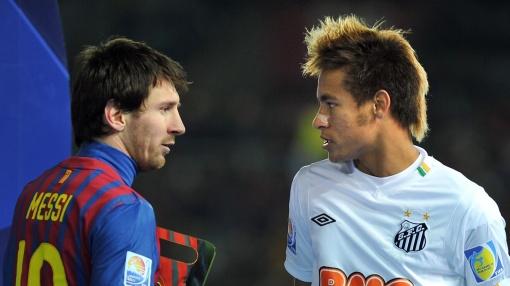 Neymar passará a formar dupla com Messi (Foto: AFP PHOTO/KAZUHIRO NOGI)