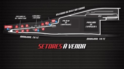 Clique na imagem para ampliar e conferir os setores (Foto: Divulgação/SP Indy 300)