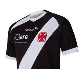 Atualmente a camisa do Vasco está sem patrocínio.  (Foto:  Divulgação/ Pênalty/ VIPCOMM)