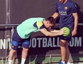 Messi em seu trabalho de pré-temporada (Foto: Reprodução Instagram)