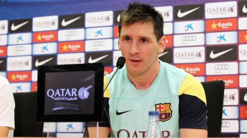 Messi concedeu sua primeira entrevista coletiva na temporada (Foto: Miguel Ruiz - FCB)