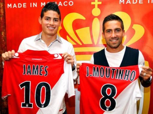 Companheiros de Falcão no Porto, James Rodriguez e João Moutinho também são destaques do novo rico (Foto: Divulgação / Site oficial do Mônaco)
