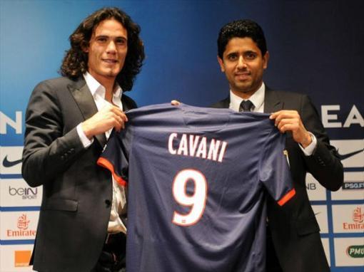 Furacão Cavani será o novo companheiro de ataque do sueco Ibrahimovic (Foto: Getty images)